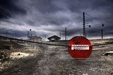 No Entry The Station Royalty Free Stock Image