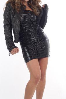 Free Nice Black Dress And Nice Legs Stock Image - 22799661
