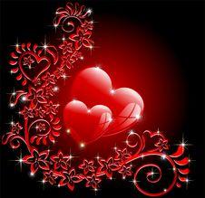 Free Valentine S Ornamental Romantic Card Stock Photo - 22799930