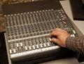 Free Audio Engineer Adjusting Level Royalty Free Stock Image - 2283926