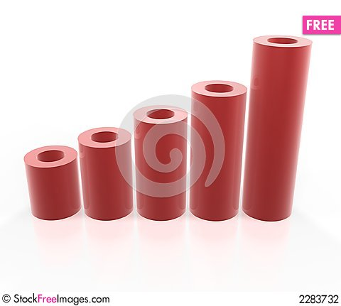 Free Red Tube Graph Stock Photography - 2283732