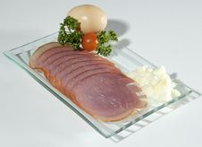 Free Ham Slices Royalty Free Stock Photography - 2280007