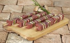 Free Beef On A Skewer Stock Image - 2280051