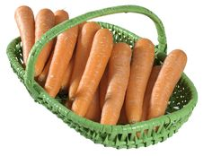Free Basket Of Raw Carrots Isolated Royalty Free Stock Photo - 2280145