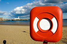 Free Lifebuoy Ring With A Lighthous Royalty Free Stock Images - 2281969