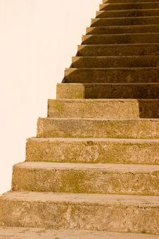 Free A Sand Stone Staircase In Shad Royalty Free Stock Image - 2281976