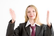 Free A Business Woman Gesturing (3) Royalty Free Stock Photo - 2282045