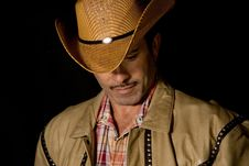 Free Cowboy Lookig Down 2 Royalty Free Stock Photography - 2282137