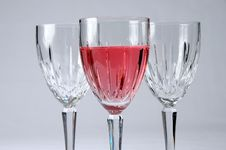 Free Zinfandel And Glasses Royalty Free Stock Images - 2282259