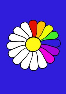 Free Rainbow Daisy Stock Images - 2282734