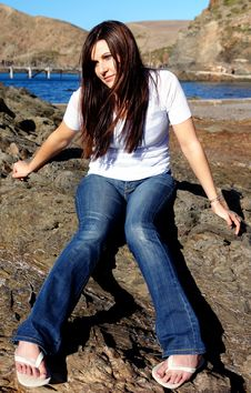 Free Beach Girl Stock Image - 2284301