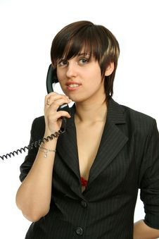 Free The Nice Girl Speaks By Phone Stock Images - 2284364