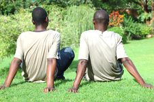 Free Young Men Relaxing Royalty Free Stock Photo - 2285185