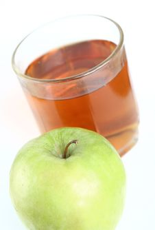 Green Apple And Glass Of Juice Royalty Free Stock Images