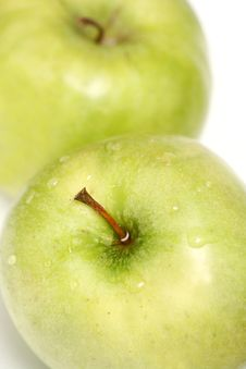 Free Two Green Apples Royalty Free Stock Photos - 2285598