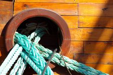 Ship Ropes Stock Images