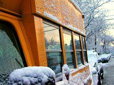 Free School Bus In Winter Stock Photos - 2286533