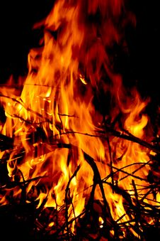 Free Burning Fire Stock Image - 2287861
