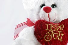 Free I Love You Teddy Bear Stock Photography - 2288282