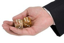 Free Palm With Pair Of Dice Stock Image - 2288481