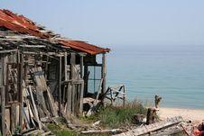 Free Delapidated Boathouse Royalty Free Stock Photography - 2288967