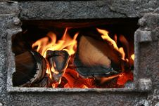 Free Fire In Fireplace Stock Photography - 2289852