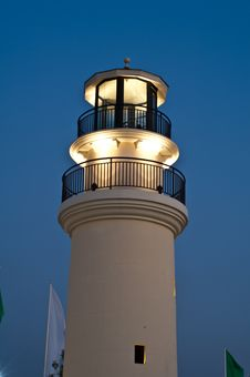 Free Lighthouse With Lighting Royalty Free Stock Photo - 22800455