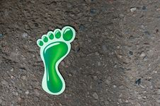 Free Green Footprint Royalty Free Stock Photo - 22801995