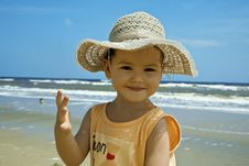 Free Child Wearing A Hat Stock Photos - 22802883