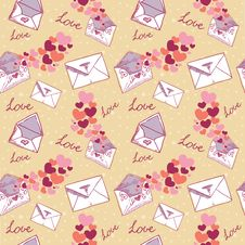 Free Love Letter Valentine Seamless Texture Stock Image - 22803411