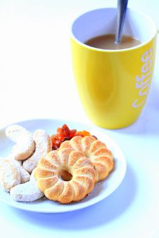 Free Biscuit And Coffe Stock Photo - 22803990