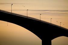 Free Black Bridge At Evening Stock Images - 22805774