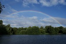 Rainbow Over Norfolk Royalty Free Stock Photos