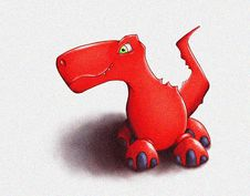 Free Red Dinosaur Royalty Free Stock Photos - 22807328
