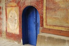Free Blue Monastery Church Door Royalty Free Stock Images - 22808799