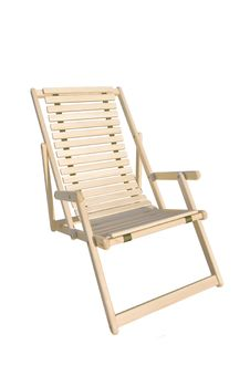 Free Deck Chair Isolated Royalty Free Stock Photography - 22810017