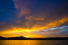 Free Lake Sunset Royalty Free Stock Image - 22812256