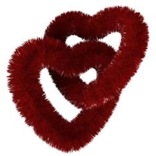 Free Two Fluffy Red Hearts Royalty Free Stock Image - 22812746