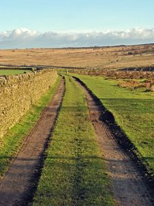 Free Farmers Tracks Across Countryside Stock Photos - 22815163