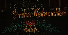Free Merry Christmas In German Royalty Free Stock Photography - 22817287