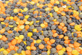Free Black, Orange And Yellow Lentils Stock Images - 22821094