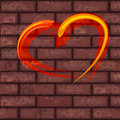 Free Heart On Brick Wall Royalty Free Stock Image - 22823696