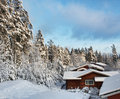 Free Log Houses In Snowy Winter Scenery Stock Photography - 22829882