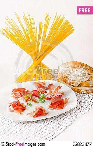 Free Italian Prosciutto Royalty Free Stock Photography - 22823477