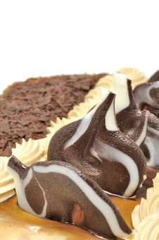 Free Delicious Cake With Chocolate Decorations Stock Image - 22820911