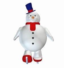 Free Snowman . 10 Royalty Free Stock Photography - 22821887