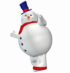 Free Snowman . 13 Royalty Free Stock Image - 22821896
