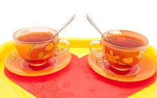 Free The Couple Of Cup Of Tea Stock Image - 22822191