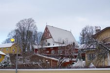 Free Wooden Houses Of Porvoo Royalty Free Stock Photos - 22823158