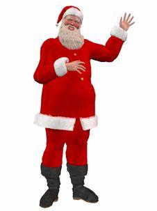 Free Original Santa Claus Waving Stock Images - 22823514